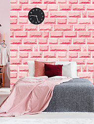 cheap -Pink Brick Self Adhesive Wallpaper 3D Waterproof Home Decor Wallpapers for Living Room Decorative Wall Stickers 45CM*100CM