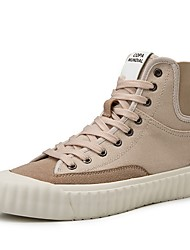 cheap -Men's Comfort Shoes Canvas Fall & Winter Casual Sneakers Black / Beige