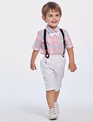 cheap -Kids Boys' Basic Plaid Short Sleeve Clothing Set Blushing Pink