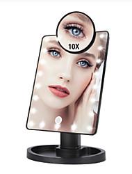 Недорогие -16 светодиодных фонарей с сенсорным экраном зеркало для макияжа 1x 10x увеличительные зеркала тщеславия 16 ламп ярких регулируемых USB или использование батарей