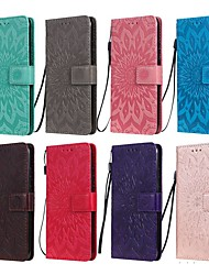 cheap -Case For Samsung Galaxy S9 / S9 Plus / S8 Plus Wallet / Card Holder / with Stand Full Body Cases Solid Colored / Flower PU Leather