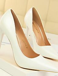 cheap -Women's Heels Stiletto Heel Pointed Toe PU Winter Black / Brown / Camel