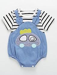 cheap -Baby Boys' Basic Striped Short Sleeves Romper Blue