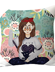 Недорогие -1 шт. Полиэстер наволочка мультфильм милашки нарисованные от руки персонажи наволочки офисные автомобили кушетки хлоропластика подушки спинки чехлы