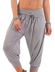 cheap -Men's Women's Yoga Pants Drawstring Capri Pants Breathable Quick Dry Dark Grey Black Army Green Fitness Gym Workout Sports Activewear