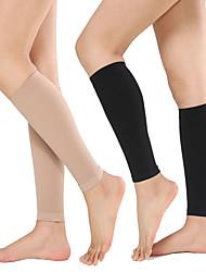 cheap -Leg Sleeves Calf Support Calf Compression Sleeves Sporty for Marathon Running Elastic Breathable Sweat-wicking Women's Men's Nylon 1 Piece Sports Black Khaki