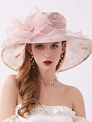 cheap -Queen Elizabeth Audrey Hepburn Retro Vintage Kentucky Derby Hat Fascinator Hat Women's Organza Costume Hat Silver+Gray / Blushing Pink / Pink Vintage Cosplay Party Party Evening