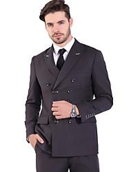 cheap -Men's Suits Notch Lapel Polyester Black / Navy Blue / Gray
