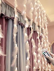 Недорогие -3x2M Гирлянды 300 светодиоды Тёплый белый / Белый Романтика Декоративная / Занавес строки огни 5 V / Работает от USB