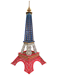 cheap -3D Puzzle Model Building Kit Wooden Model Chinese Architecture Eiffel Tower DIY Parent-Child Interaction Wood Kid's Adults' Unisex Boys' Girls' Toy Gift