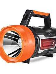Недорогие -Аварийные лампы Ручные фонарики 500 lm Светодиодная лампа LED 1 излучатели 1 Режим освещения с зарядным устройством Портативные Прочный