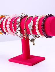 Недорогие -Круглый Подставки для бижутерии - деревянный Розовый 23.6 cm 7 cm 14 cm / Жен.