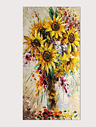 cheap -Oil Painting Abstract 3D Knife Hand-Painted Sunflower Modern Home Decoration Wall Art with Stretched Framed Ready for Hanging