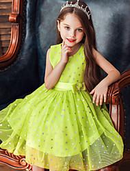 cheap -Princess Dress Girls' Movie Cosplay Cosplay Halloween Black / White / Green Dress Halloween Carnival Masquerade Tulle Polyester