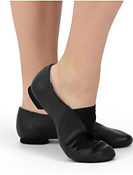 cheap -Women's Ballet Shoes Pigskin Flat Flat Heel Dance Shoes Black