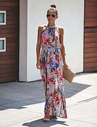 cheap -Women's Elegant Swing Dress - Geometric White Light gray S M L XL