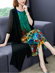 cheap -Women's Shift Dress - Geometric Black M L XL XXL