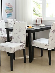 cheap -Chair Cover Floral / Romantic / Contemporary Printed Polyester Slipcovers