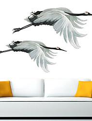 cheap -Flying Crane Wall Sticker Animal Wall Stickers Living Room Home Decor PVC Wall sticker