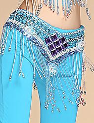 abordables -Femme Homme Danseur Danse du ventre Oriental Perle Coton Alliage Noir Violet Fuchsia Accessoires de taille