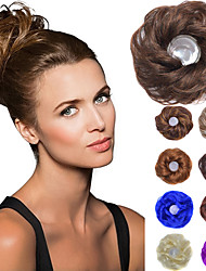 cheap -chignons Hair Bun Fashionable Design / Cosplay / Elastic Synthetic Hair Hair Piece Hair Extension Medium Brown / Strawberry Blonde / Medium Auburn