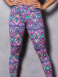 cheap -Women's High Waist Yoga Pants Winter 3D Print Rainbow Elastane Running Fitness Gym Workout Tights Sport Activewear Breathable Moisture Wicking Butt Lift Tummy Control High Elasticity Skinny
