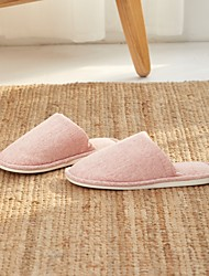 cheap -Women's Slippers / Men's Slippers Guest Slippers / House Slippers Stripes / Ripples Polyester solid color Shoes