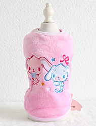 cheap -Dog Vest Quotes & Sayings Character Rabbit / Bunny Rabbit Casual / Sporty Cute Sports Casual / Daily Dog Clothes Puppy Clothes Dog Outfits Warm Purple Blue Pink Costume for Girl and Boy Dog Flannel