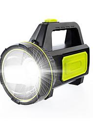 Недорогие -Ручные фонарики Водонепроницаемый 800 lm Светодиодная лампа LED 1 излучатели с зарядным устройством Водонепроницаемый Портативные