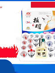 cheap -24P Gas tank vacuum cupping device / household suction cupping cup / glass beauty salon special cupping / dehumidification genuine set