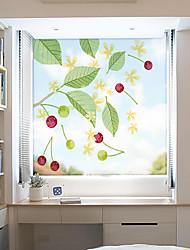 cheap -Green Plants Window Film & Stickers Decoration Matte / Patterned Flower / Floral / 3D Print PVC(PolyVinyl Chloride) Window Sticker / Matte / Door Sticker