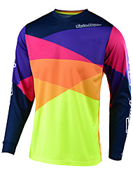 cheap -18 new speed down TLD mountain bike cycling Motorcycle Jersey Top Men's long sleeve summer off-road shirt quick drying customization