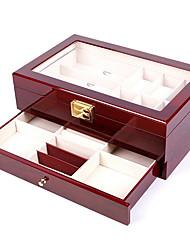 Недорогие -организация хранения коллекции ювелирных изделий из искусственной кожи квадратная откидная крышка