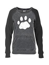 cheap -Women's Sweatshirt Color Block Basic Black Blushing Pink Gray S M L XL XXL