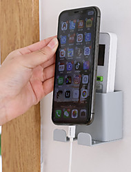 cheap -1PC Multifunction Phone Wall Holder Wall-Mounted Storage Rack Smartphone Hanging Cellphone Tablet Charging Remote Control Holder