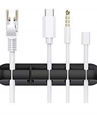Недорогие -зажимы для кабелей органайзер для управления проводами держатель кабеля для кабелей питания и зарядных кабелей для мыши кабель мыши офис и дом (5 слотов)
