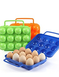 cheap -12 Grids Portable Egg Storage Box Folding Egg Carrier Holder With Handle Eggs Cases Container For Kitchen Outdoor