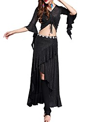 cheap -Belly Dance Outfits Women's Performance Polyester Cascading Ruffles Skirts / Top