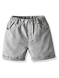 cheap -Kids Toddler Boys' Shorts Striped White Light gray Dark Gray Basic Streetwear