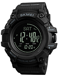 cheap -SKMEI Men's Sport Watch Digital Watch Digital Silicone Black / Blue / Red 30 m Water Resistant / Waterproof Bluetooth Calendar / date / day Digital Casual - Red Green Blue / Chronograph