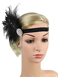 cheap -Retro Traditional / Classic Stretch Stripes / Fabrics Headpiece with Pendant / Crystals / Ribbons 1 / box Wedding / Carnival Headpiece