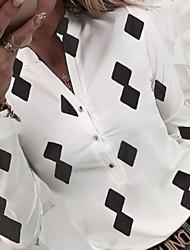 cheap -Women's Daily Shirt - Floral / Geometric Black