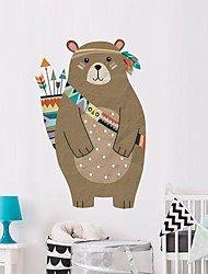 cheap -Bear Decorative Wall Stickers - Plane Wall Stickers Animals Nursery / Kids Room 35*53cm