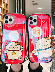 cheap -Blue Light Case for iPhone X Cute Cattoon Lucky Cat 4 Corners Shockproof Design Protective Fashion Fun Cool Cover Skin Teens Boys Girls Cases for iPhone 7/ iPhone 11 pro