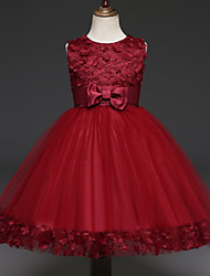 cheap -Princess Dress Flower Girl Dress Girls' Movie Cosplay A-Line Slip Cosplay Vacation Dress Purple / Red / Pink Dress Halloween Carnival Masquerade Tulle Polyester