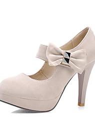 cheap -Women's Heels Stiletto Heel Round Toe Synthetics Spring &  Fall Black / Dark Red / Beige