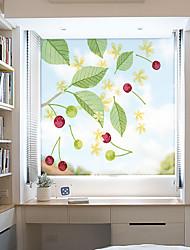 Недорогие -вишневый узор матовая оконная пленка статическая цеплять винил теплоизоляция защита частной жизни домашнего декора для оконной двери шкафа шкаф наклейка окна / матовая / дверная наклейка