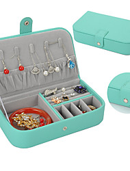 cheap -Jewelry Box - Leather Light Blue, Black, Red 19 cm 11 cm 4.4 cm / Women's