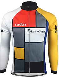 cheap -21Grams Men's Long Sleeve Cycling Jersey Winter Spandex Polyester Jacinth +Gray Bike Jersey Top Mountain Bike MTB Road Bike Cycling Thermal / Warm UV Resistant Breathable Sports Clothing Apparel
