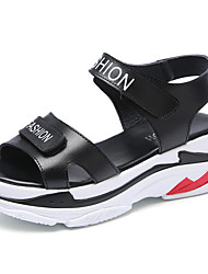 cheap -Women's Sandals Creepers Open Toe Synthetics Sweet / Minimalism Spring &  Fall / Spring & Summer Black / White